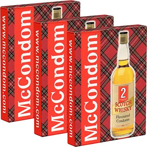 McCondom, mit Whisky-Aroma, 6 Kondome aus Schottland, Aroma von schottischem Whiskey, Geschenk-Idee, Spezialkondome