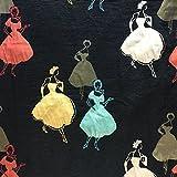 Premium Silhouette Gold Metallic Brokat Kleid Stoff