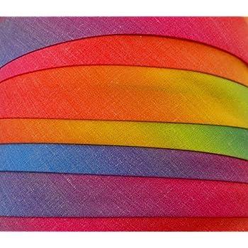 Textilband Blende Grau 10 mm Schr/ägband Baumwolle 50 Meter