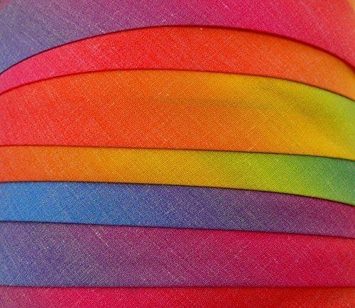 Schrägband/Textilband - Blende'Regenbogen' 20 mm/Baumwolle (10 Meter)