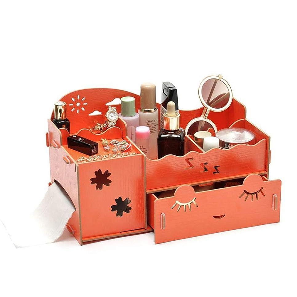 歯科の男やもめフォージL.TSAトラベルウォッシュ収納バッグ化粧品収納ボックス、デスクトップ木製収納ボックス、DIY化粧品ケーススキンケアラック、引き出し付き、Style4