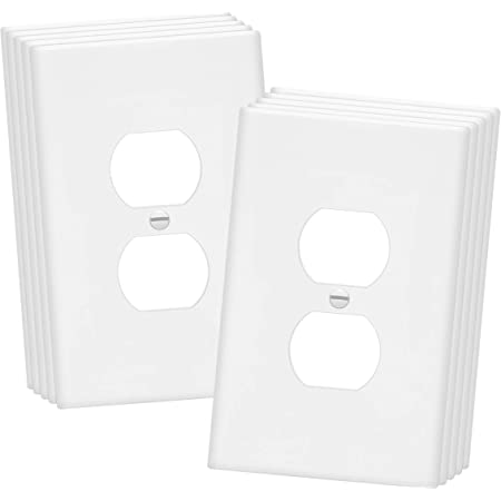 Enerlites Toggle Light Switch Wall Plate Jumbo Switch Cover Oversized 1 Gang 5 5 X 3 5 Unbreakable Polycarbonate Thermoplastic 8811o W White Amazon Com