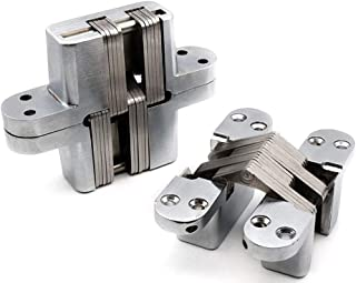 2 pieces of household invisible hinge 180 degree zinc alloy invisible folding door cross hinge 60mm