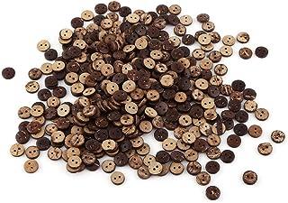 400 Pcs Boutons à coudre 2 trous par Natural Brown Coconut Shell Scrapbooking Décor Accessoires 10mm