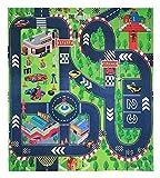 JTMM Alfombra de juguete para niños, ideal para jugar con coches y juguetes, para niños educativos de tráfico en carretera, aprender y divertirse de forma segura