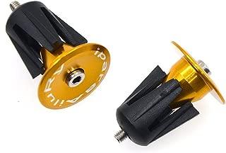 iParaAiluRy Bike Bar End Plugs Handsome Universal Rubber Sponge Aluminum Handlebar Plug (1 Pair, Out Dia. 23mm/28mm, Black/Blue/Golden/Gray/Green/Red)