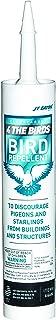JT Eaton 666N 4 The Birds Bird Repellent Gel, 10oz Caulking Tube (Pack of 12)