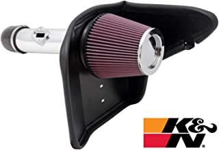 K&N Cold Air Intake Kit with Washable Air Filter: 2010-2011 Chevy Camaro, 3.6L V6, Polished Metal Finish with Red Oiled Filter, 69-4520TP