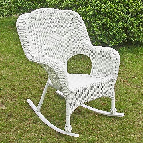 International Caravan Furniture Piece Resin Wicker Camel Back Rocking Chairs (Set of Two)