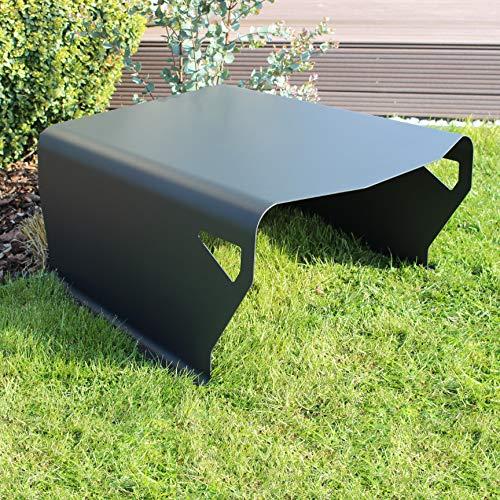Sportliche Mähroboter Garage in mattem Anthrazit Grau – Das abgerundete Dach für deinen Rasenroboter bietet optimalen Schutz gegen Sonne und Regen – Für die meisten Rasenmäher Roboter geeignet
