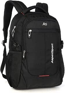 "ASPENSPORT Laptop Backpack for Men School Bookbag Fit 15.6""-17""Water Repellent"