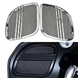 Rebacker Motorbike Tri-Line Speaker Grills Cover Trim Mesh for Harley Road Glide FLTRX 2015 2016...
