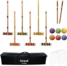 Juegoal Six Player Croquet Set with Carrying Bag, 28 Inch