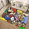 超级马里奥兄弟 Super Mario Bros 地毯 160x200 可洗 夏季用 旗子 时尚 垫子 可洗 防螨 防滑 可折叠 大 - 四季适用-A_40x60cm