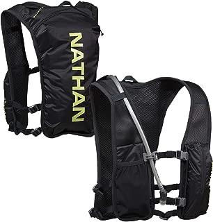 Nathan QuickStart Hydration Pack Running Vest. 4L Storage with 1.5L (1.5 Liter) Bladder Included. for Men and Women OSFM Adjustable Straps. Phone Holder Pockets, Zippers