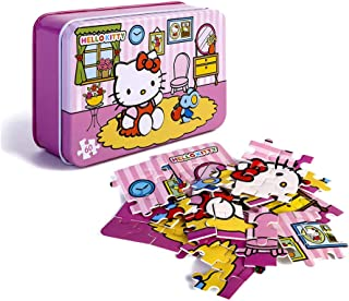 60 Piece Puzzles for Kids,Hello Kitty Jigsaw Puzzle in Storage Box,Beautiful Artwork
