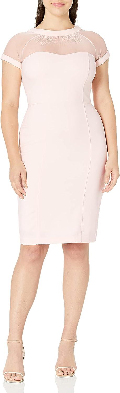 Maggy London Women's Petite Illusion Sheath Dress