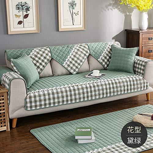 BASA Tuin meubelhoes, bank kussensloop handdoek woonkamer eenvoudige en eenvoudige stofdichte bescherming meubels 90*90cm Groen