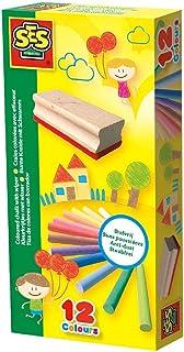 SES Creative - Craies colorées avec effaceur, 00208