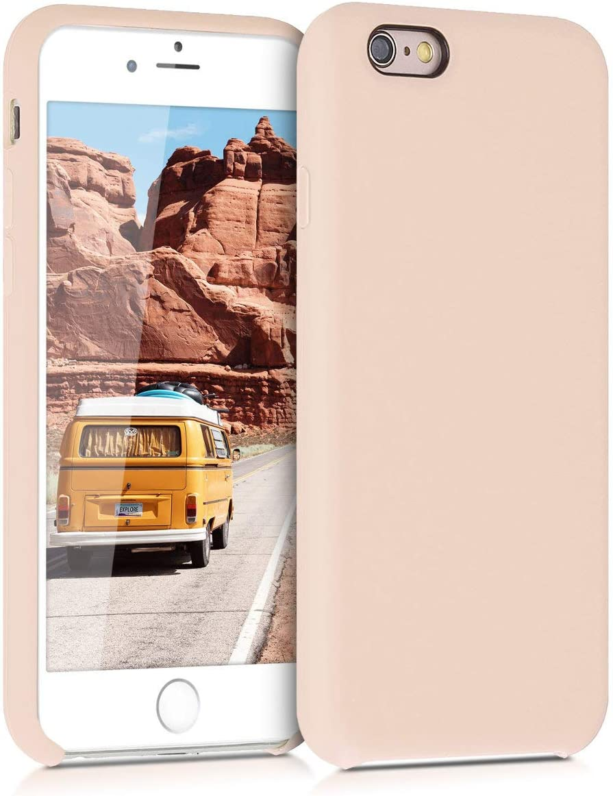 kwmobile TPU Silicone Case Compatible with Apple iPhone 6 / 6S - Case Slim Phone Cover with Soft Finish - Mother of Pearl