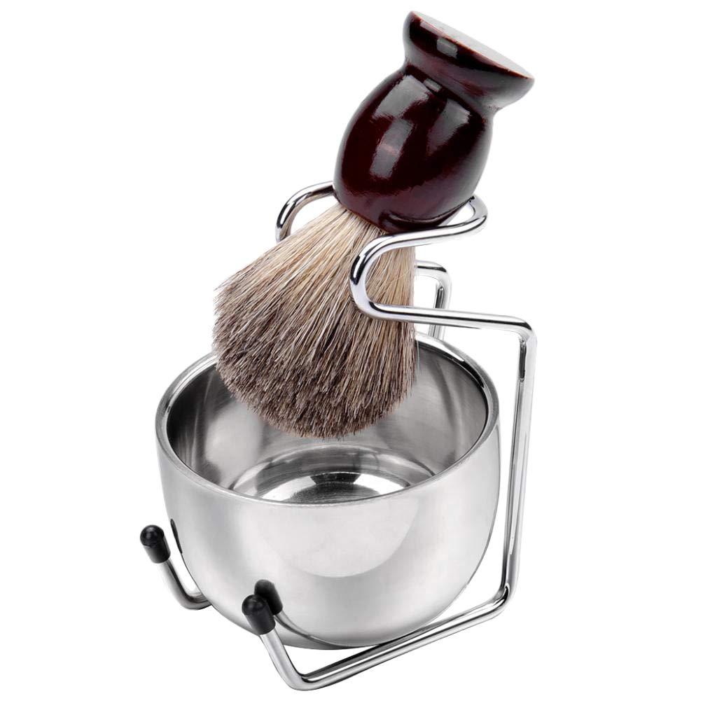 Bonarty 3 In 1 Shaving Bowl+Bristle OFFicial shop Brush Set 25% OFF Stand+Soap