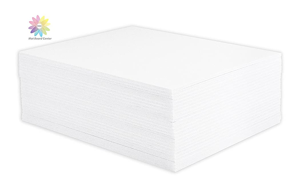 Mat Board Center, Pack of 25 Foam Core Backing Boards 1/8 (5x7, White)