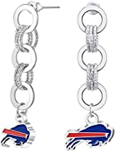 NFL Circle Links Post Earrings | Sports Fan Jewelry Gift | Fashion Jewelry | Birthday & Holiday Gifts for Women and Girls