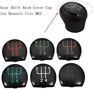 5 Speed Car Gear Shift Knob Cover Cap for Renault Clio MK2 Yellow