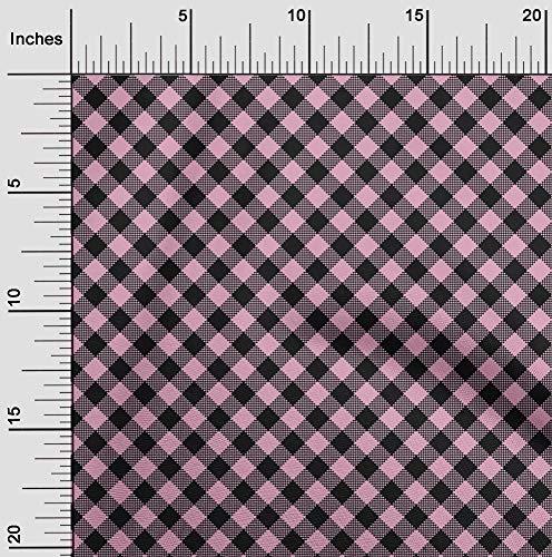 oneOone Flex Algodón Rosa Claro Tela Controlar Tela De Costura Por El Medidor Impreso Suministros De Costura De Ropa De Bricolaje 40 Pulgada De Ancho