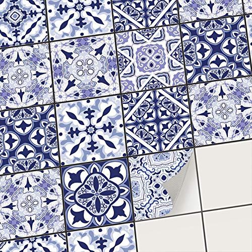 creatisto Mosaik-Fliesen Fliesenaufkleber Fliesenfolie - Klebe Folie für Wandfliesen I Klebefliesen Deko Folie für Fliesen in Küche u. Bad/Badezimmer (10x10 cm I 9 -Teilig)