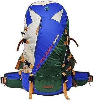 50L Camping Senderismo Mochila Mochila Interna Mochila Impermeable Viajar Daypack Mochila De Alto Rendimiento para Mochilero, Senderismo, Camping para Mujeres Y Mujeres,Azul