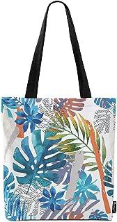حقيبة حمل قماش من Moslion Palm Leaf Forest Palm Tree Good Vibes