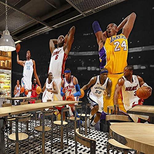 Papel Pintado Art Foto Mural Papel Tapiz Fotográfico Murales Grandes Sofá Dormitorio Moderno Pintura Mural Decoración Para El Hogar-Baloncesto Estrella De La Nba 5(200x150CM)