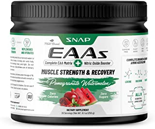 Sponsored Ad - Snap Supplements EAAs Powder Essential Amino Energy - BCAA, Amino Acids, Muscle Strength & Recovery Post Wo...