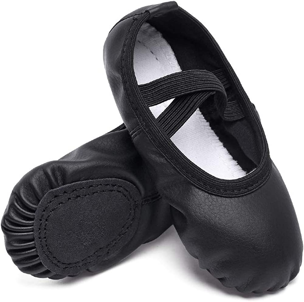 Save money CUTE STARS Girls Leather Dance Shoes for Slippers Ballet K half