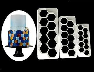 Hexagon Cookie Cutter - Geometric Multicutter- Football Cake Fondant Cutter - 3 Size,Hexagon Biscuit Cutters,Novel Creative Cake Decorating