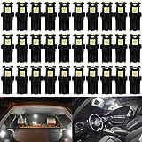 DEFVNSY 30X T10 Blanc 194 168 2825 W5W Ampoule LED de Remplacement intérieur de Voiture - 5e génération 5050 Chipsets 5SMD Source d'éclairage pour Lampe de Plaque d'immatriculation 12V