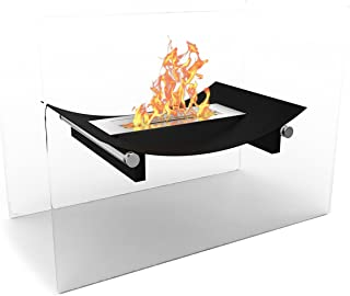 Regal Flame Black Bow Ventless Free Standing Bio Ethanol Fireplace Can Be Used as a Indoor, Outdoor, Gas Log Inserts, Vent Free, Electric, Outdoor Fireplaces, Gel, Propane & Fire Pits.