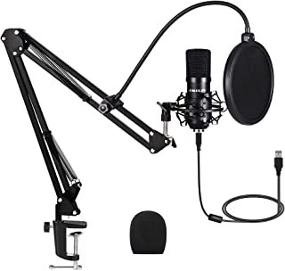 Iukus Pc Microphone With Mic Stand, Professional 3.5mm