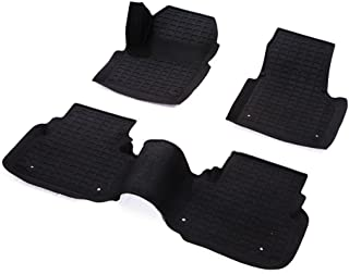 Star Diamond Liners 3 Pieces Custom Fit Rubber All Weather Floor Mats 1 and 2 Row for 2015-2016 Land Rover Discovery Sports Black