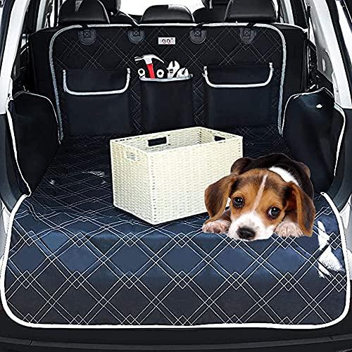 Universal Kofferraumschutz für Hunde, Kofferraumschutz Hund mit Seitenschutz, Völliger Kofferraumschutz für Hund, Universal Auto Kofferraum Hundedecke, Wasserdichter/Rutschfester