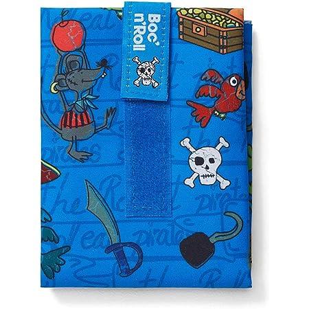 Roll'eat Boc'n'Roll, KIDS Piratas , Porta bocadillos reutilizable , bolsa merienda , funda bocadillo, Sin BPA, Azul