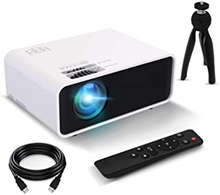 Funcilit Mini Video Projector, 3800 lux Portable Home Movie Cinema Full HD 1080P Supported Stereo Speaker Movie Pico Proje...