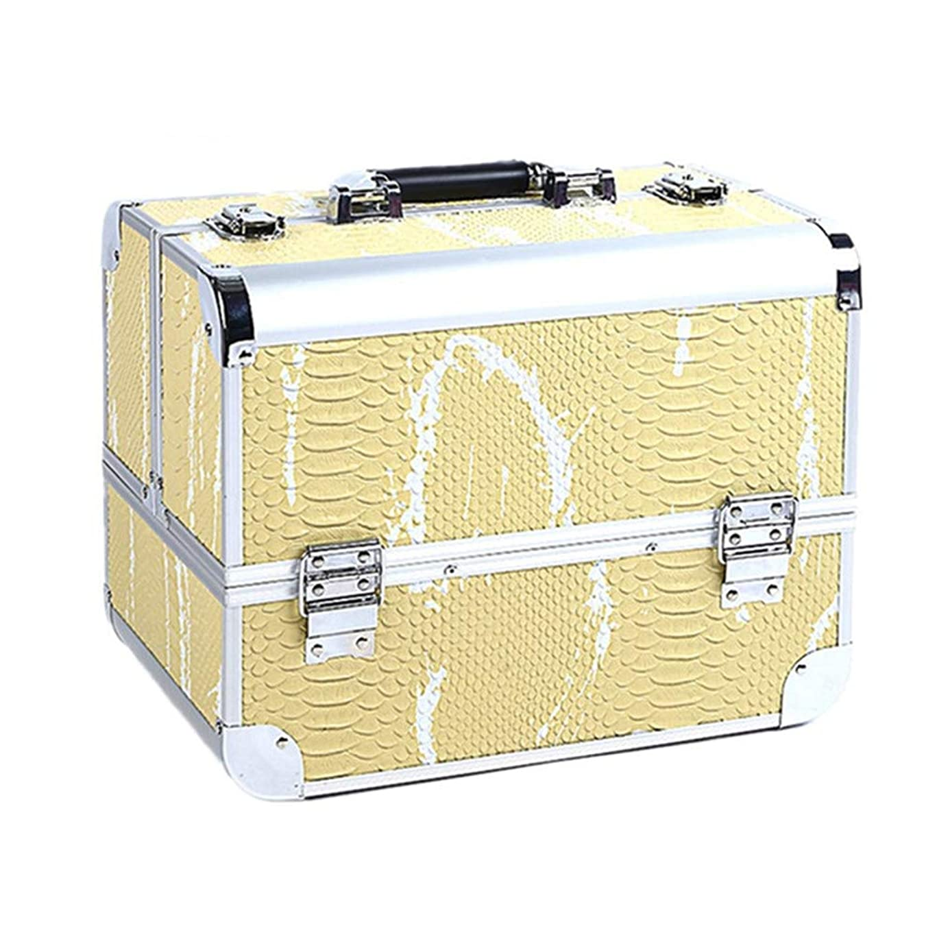 ペレグリネーションペニーブル化粧オーガナイザーバッグ 大容量ポータブル化粧品ケース用トラベルアクセサリーシャンプーボディウォッシュパーソナルアイテムストレージロックと拡張トレイ 化粧品ケース