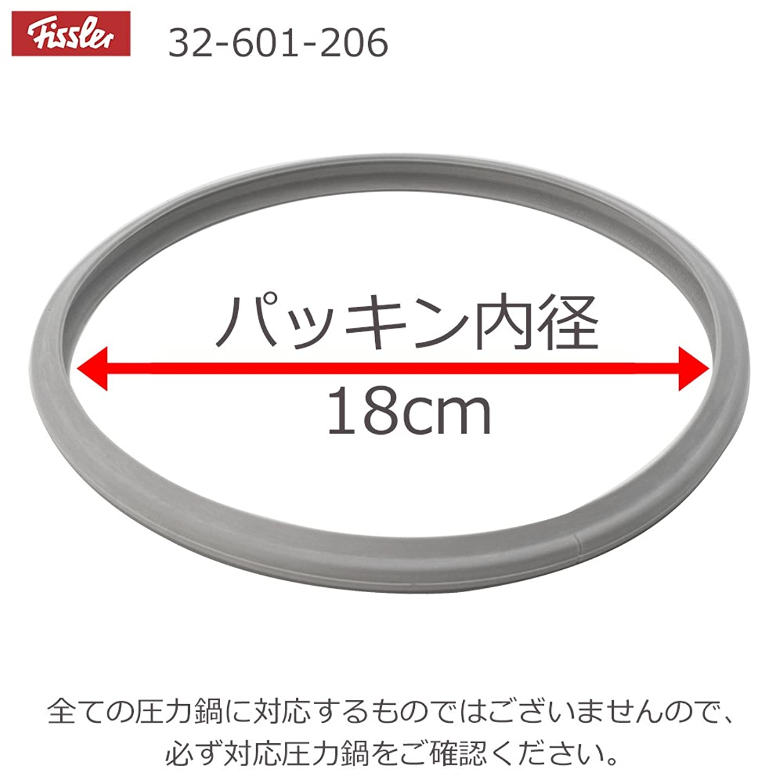 レビュー問い合わせる自発メール便発送 フィスラー Fissler 圧力鍋専用 パッキン(18cm) ミニロイヤル2.5L用(32-601-206)