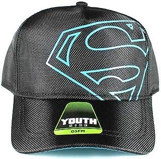 446124606fc4f Superman DC Comics Off-Center Black Logo Youth Snapback Baseball Cap Hat