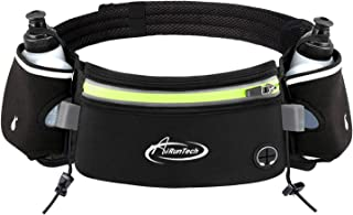 Running Belt with Water Bottle Holder No Bounce Hydration Belts for Runners