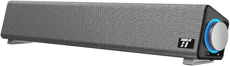 Sound Bar, TaoTronics Wired Computer Speakers Portable Soundbar, Stereo USB Powered Mini Sound Bar Speaker for PC Cellphone Tablets Desktop Laptop (Renewed)