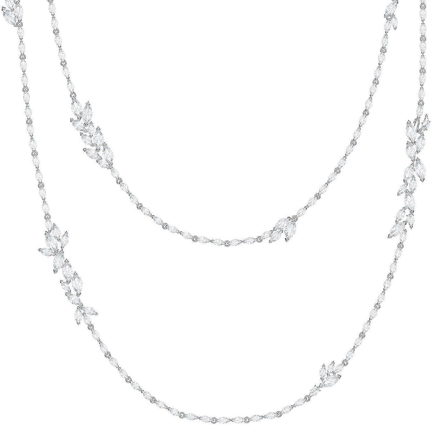 SWAROVSKI Crystal Louison White Strand Layered Rhodium-Plated Al sold out. Ne Max 63% OFF