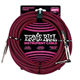 Ernie Ball Instrument Cable, Red/Black, 25 ft